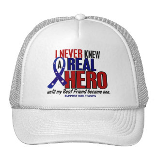 Never Knew A Hero 2 Best Friend (Support Our Troop Trucker Hat