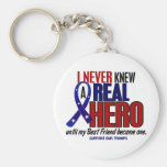Never Knew A Hero 2 Best Friend (Support Our Troop Key Chain