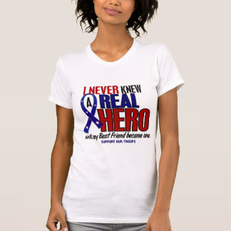 Never Knew A Hero 2 Best Friend (Support Our Troop Shirt