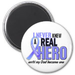 Never Knew A Hero 2 Dad Prostate Cancer Refrigerator Magnets