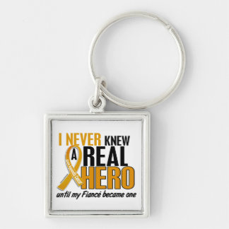 Never Knew a Hero 2 Fiance Appendix Cancer Keychain