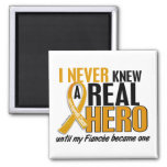 Never Knew a Hero 2 Fiancee Appendix Cancer Square Magnet