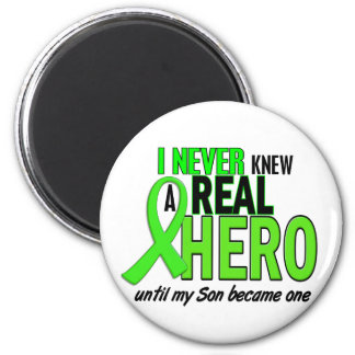 Never Knew A Hero 2 LIME GREEN (Son) Refrigerator Magnet