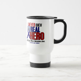 Never Knew A Hero 2 Mom (Support Our Troops) Travel Mug