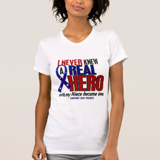 Never Knew A Hero 2 Niece (Support Our Troops) T-shirts
