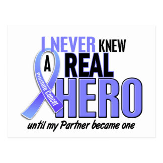 Never Knew A Hero 2 Partner Prostate Cancer Postcard