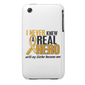 Never Knew a Hero 2 Sister Appendix Cancer iPhone 3 Case-Mate Cases