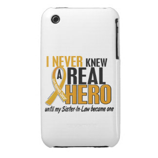 Never Knew a Hero 2 Sister-In-Law Appendix Cancer iPhone 3 Case-Mate Cases
