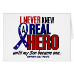 Never Knew A Hero 2 Son (Support Our Troops) Cards