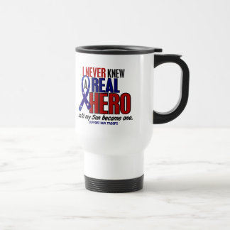 Never Knew A Hero 2 Son (Support Our Troops) Travel Mug