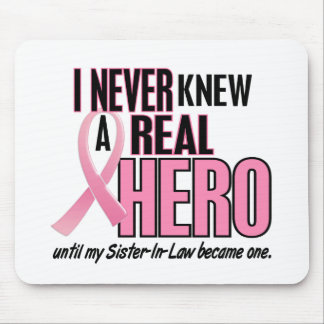 Never Knew A Real Hero SISTERINLAW (Breast Cancer) Mouse Pad