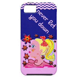 never let you down case for the iPhone 5