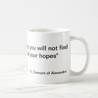 Never lose hope basic white mug
