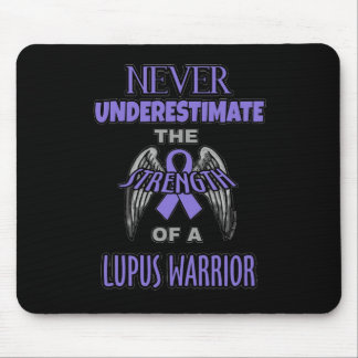 Never...Lupus Warrior Mouse Pad