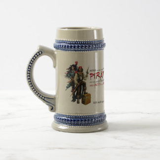 Never Meddle With Pirates Beer Stein