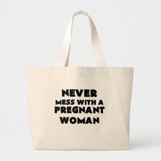 never mess with a pregnant woman png tote bag