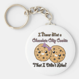 Never Met a Chocolate Chip Cookie Didnt Like Basic Round Button Key Ring