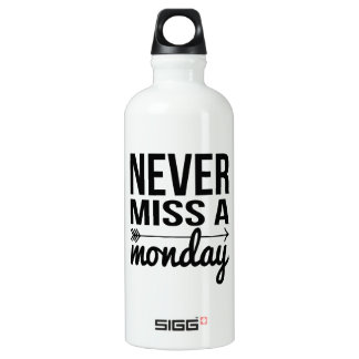Never Miss a Monday | Fitness Quote Typography SIGG Traveller 0.6L Water Bottle