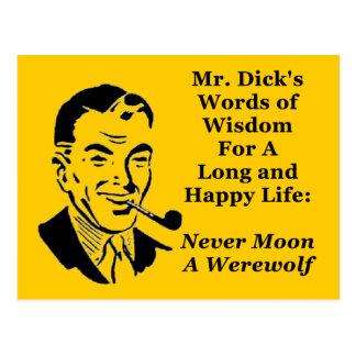 Never Moon A Werewolf Postcard