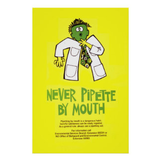 Never Pipette by Mouth Poster