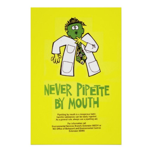 Never Pipette by Mouth Print