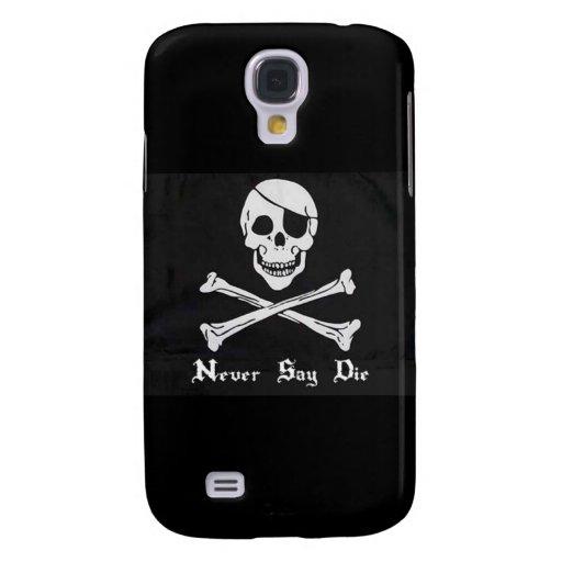 Never Say Die Skull & Crossbones iPhone 3G/3GS Cas Galaxy S4 Case