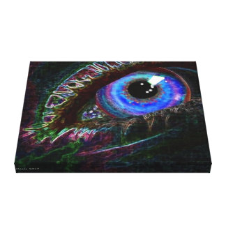 Never Seeing Eye In Black by Charles Meade Artist Canvas Print