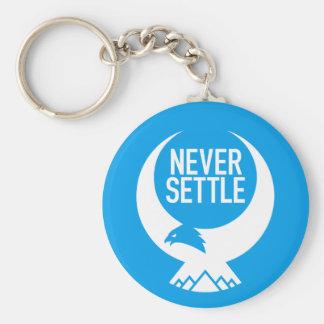 Never Settle Key Ring