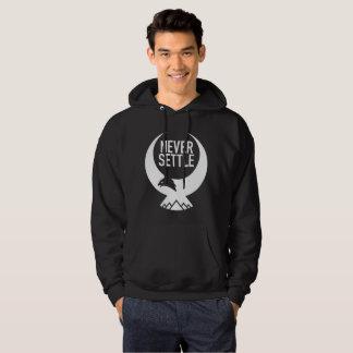 Never Settle Men's Basic Hooded Sweatshirt