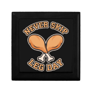 Never Skip Leg Day - Chicken Drumstick - Funny Gift Box