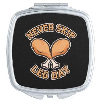 Never Skip Leg Day - Chicken Drumstick - Funny Vanity Mirror