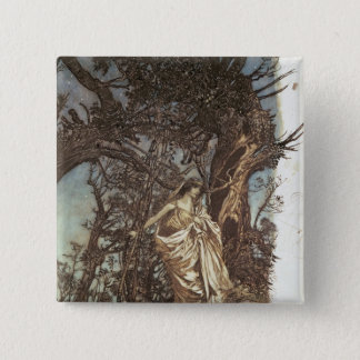 Never so weary, never so woeful 15 cm square badge