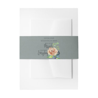 NEVER STOP BELIEVING IN HOPE MIRACLES EVERYDAY INVITATION BELLY BAND