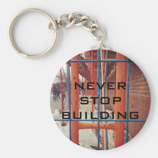 NEVER STOP BUILDING! BASIC ROUND BUTTON KEY RING