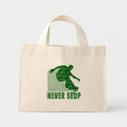 Never Stop: Skateboarding Tote Bags