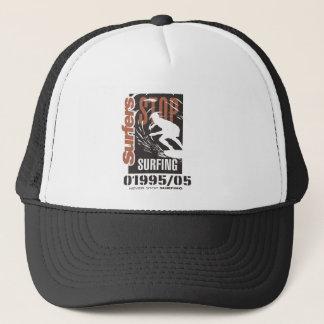 never stop surfing trucker hat