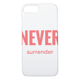 Never Surrender iPhone 7 Case-Mate Barely There iPhone 7 Case
