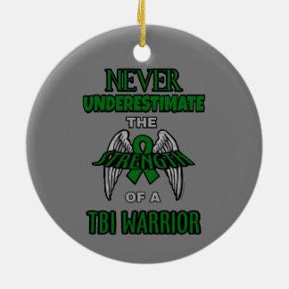 Never...TBI Ceramic Ornament