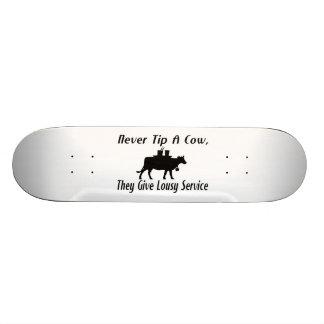 Never Tip A Cow Skate Board Decks