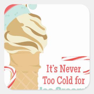 Never Too Cold Square Sticker