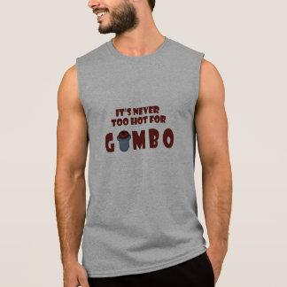 Never Too Hot For Gumbo Funny Louisiana Tank Shirt