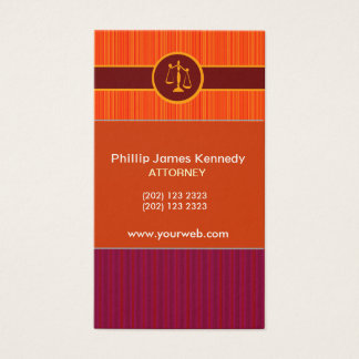 Never Too MUch Stripes St   Attorney Appointment Business Card