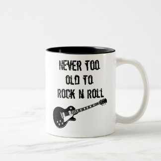 Never Too Old To Rock N Roll Two-Tone Coffee Mug