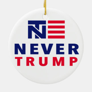 """NEVER TRUMP"" CERAMIC ORNAMENT"