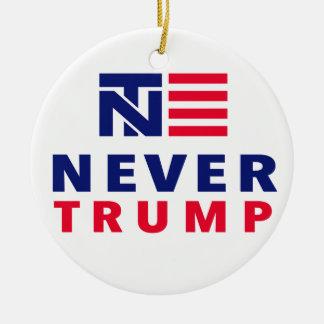 """NEVER TRUMP"" (singled-sided) Ceramic Ornament"