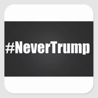 NEVER TRUMP SQUARE STICKER