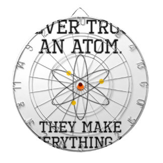 Never Trust An Atom - Funny Science Dartboard