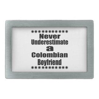Never Underestimate A Colombian Boyfriend Belt Buckles