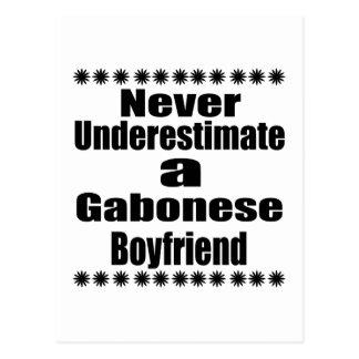 Never Underestimate A Gabonese Boyfriend Postcard