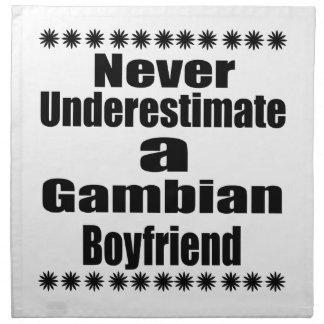 Never Underestimate A Gambian Boyfriend Napkin